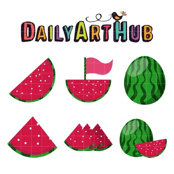 Watermelon Clip Art - Great for Art Class Projects!