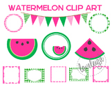 Watermelon Clip Art and Labels