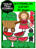 Watermelon ClipArt {Texas Twist Scribbles}