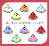 Watermelon Clipart / Fruit Clipart / Rainbow Watermelon /