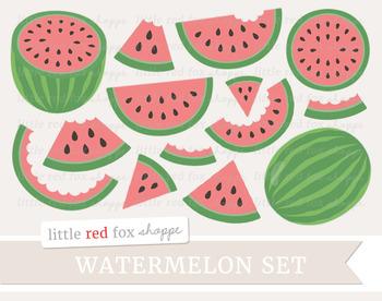 Watermelon Clipart; Fruit, Slice