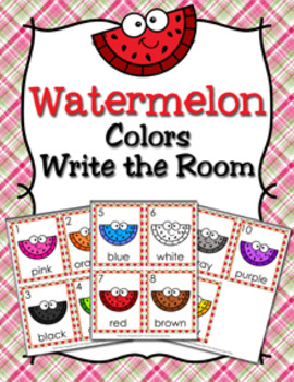 Watermelon Colors Write the Room Activity