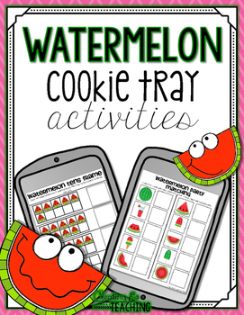 Watermelon Cookie Tray Activities