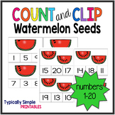 Watermelon Count and Clip Cards 1-20