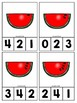 Watermelon Counting Clip Cards 1-10