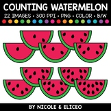 Summer Watermelon Counting Clipart