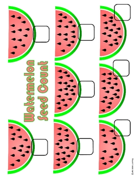 watermelon counting file folder game by little stars learning tpt