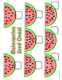 Watermelon Counting File Folder Game