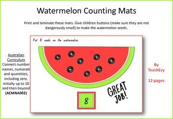 Watermelon Counting Mats