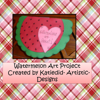 End of the Year Watermelon Craft