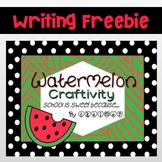 Watermelon Craftivity {School Is Sweet because...}