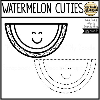 Watermelon Cuties (Clip Art for Personal & Commercial Use)