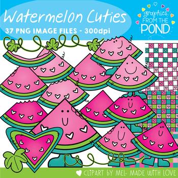 Watermelon Cuties Clipart Set