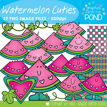 Watermelon Cuties Clipart Set