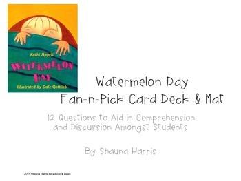 Watermelon Day Fan & Pick Cards (Trophies 2nd grade)