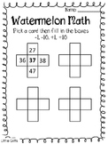 Watermelon Day Math and Science Activities
