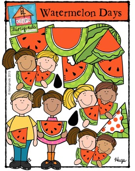 Watermelon Days (P4 Clips Trioriginals Digital Clip Art)