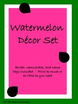 Watermelon Decor Set