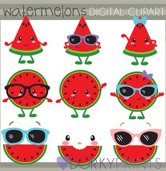Watermelon Digital Clip Art