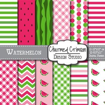 Watermelon Digital Paper 1038