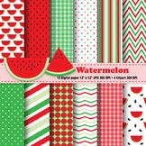 Watermelon Digital Paper & Clipart
