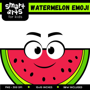 Watermelon Emoji Clip Art