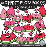 Watermelon Faces Clipart