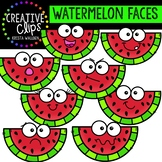 Watermelon Faces: Summer Clipart {Creative Clips Clipart}