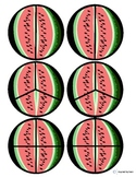 Watermelon Fractions Cut & Paste for Autism