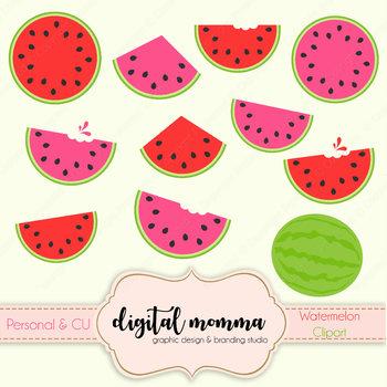 Watermelon, Fruit Clipart, Summer Clipart