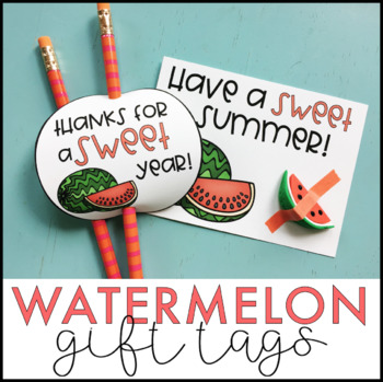 Watermelon Gift Tags | End of the Year Gift Tags