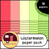 Watermelon Glitter Chevron and Solid Colors PAPERS {CU - o