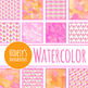 Watermelon Handpainted Watercolor Digital Paper / Backgrounds Clip Art