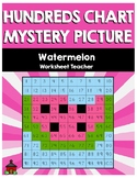 Watermelon Hundreds Chart Mystery Picture