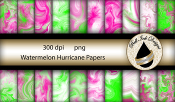 Watermelon Hurricane Papers Clipart