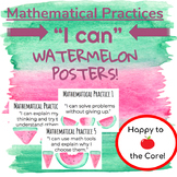 "Watermelon ""I CAN"" Mathematical Practices Posters"