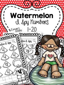 Watermelon I Spy Numbers 1-20