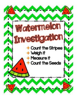 Watermelon Investigation Journal