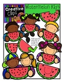 Watermelon KIDS {Creative Clips Digital Clipart}