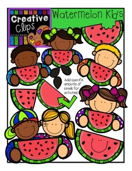 Watermelon KIDS {Creative Clips Digital Clipart}