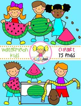 Watermelon Kids Clipart