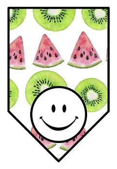 Watermelon, Kiwi, Fruit Theme, Classroom Decor, Blank Pennant Banners