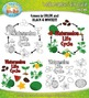 Watermelon Life Cycle Clipart Set — Comes In Color and Bla