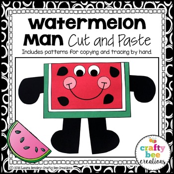 Watermelon Man Cut and Paste