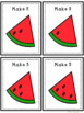 Watermelon Math - Counting, Addition to 5 and 10 and Subtraction from 5 and 10
