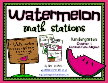 Watermelon Math Stations