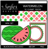 Watermelon Mini Clipart Bundle {A Hughes Design}