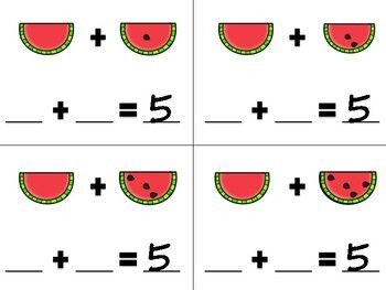 Watermelon Missing Addend Addition