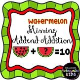 Watermelon Missing Addend Addition