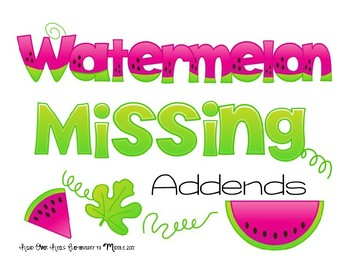 Watermelon Missing Addends